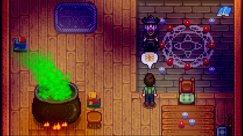 Day 7 Spring 7 The Redundant Wizard A Year In Stardew Valley Wizard is naturally introduced as part of a quest. day 7 spring 7 the redundant wizard